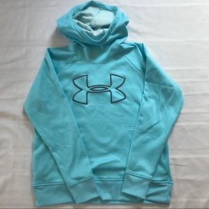 LG Under Armour funnel neck sweatshirt euc